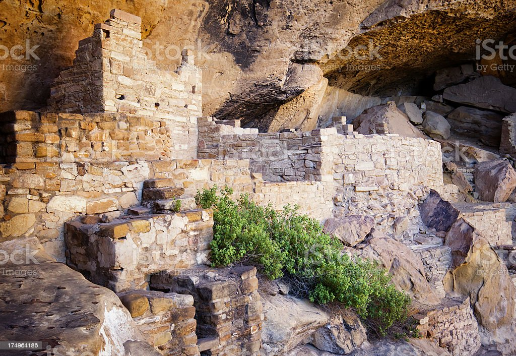 Cliff Palace Ruins - Mesa Verde National Park, Colorado stock photo
