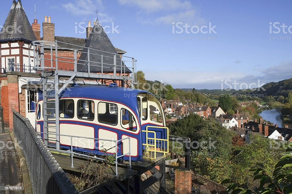 Cliff railway at Bridgnorth, Shropshire, United Kingdom royalty-free stock photo