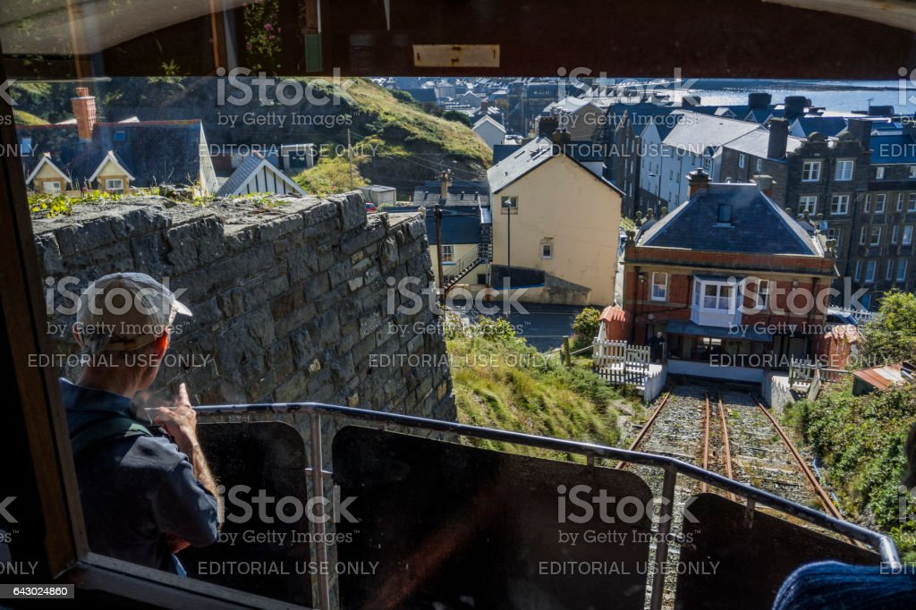 cliff railway stock photo