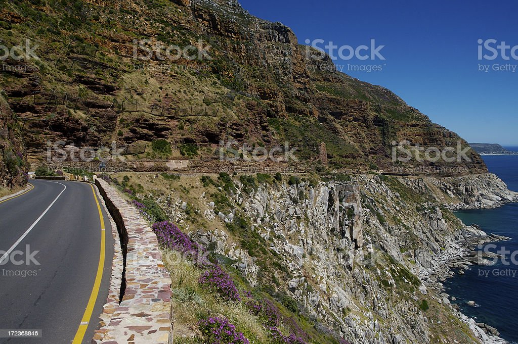 Cliff Side Road stock photo