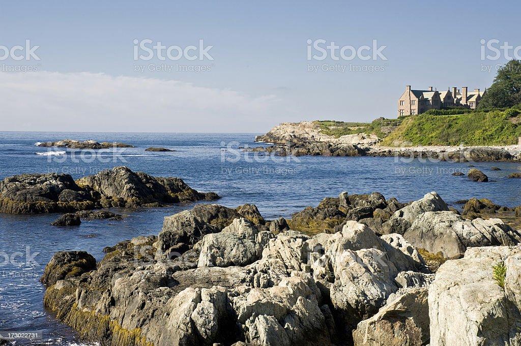 Cliff Walk Scenic View stock photo