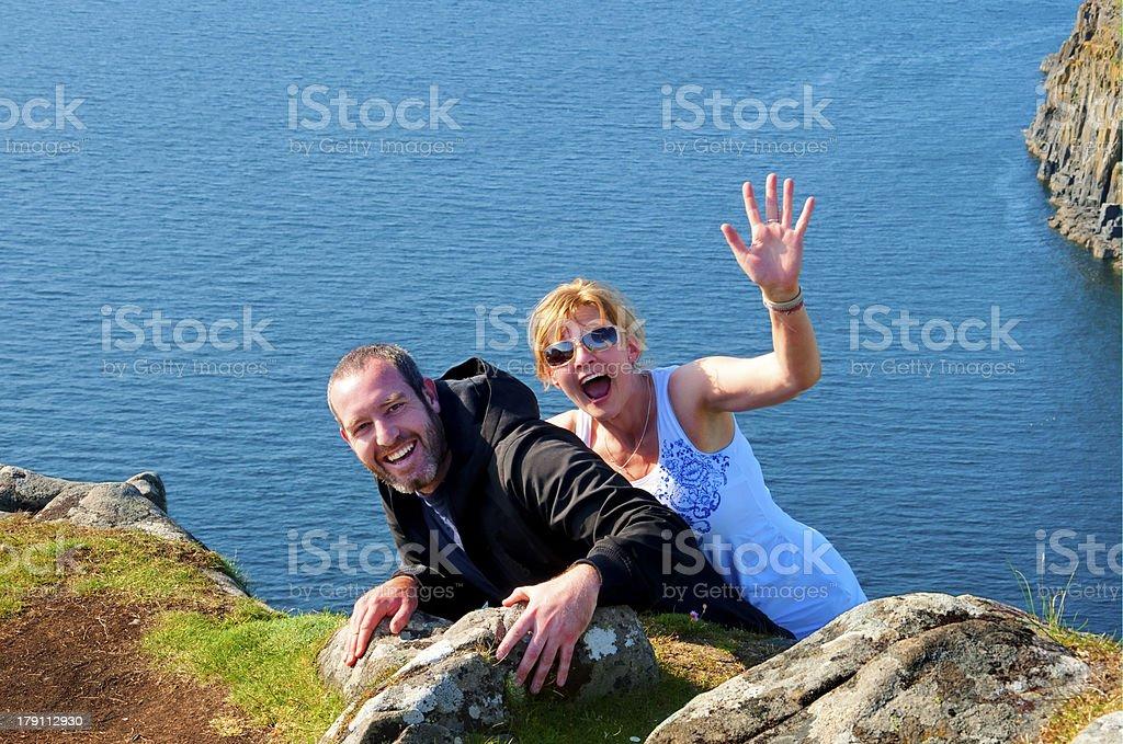 Cliffhangers stock photo