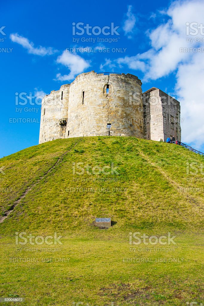 Clifford Tower in York in England stock photo