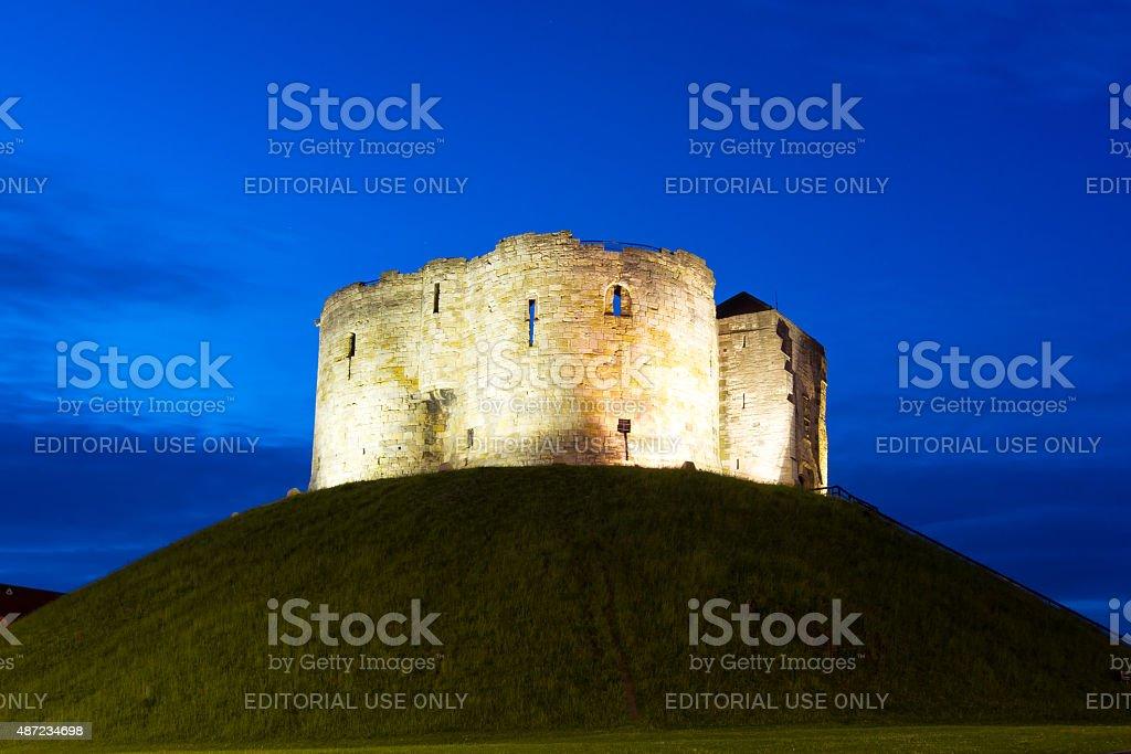 Clifford Tower, York, England stock photo