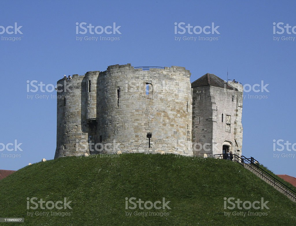 Clifford Tower, York. stock photo