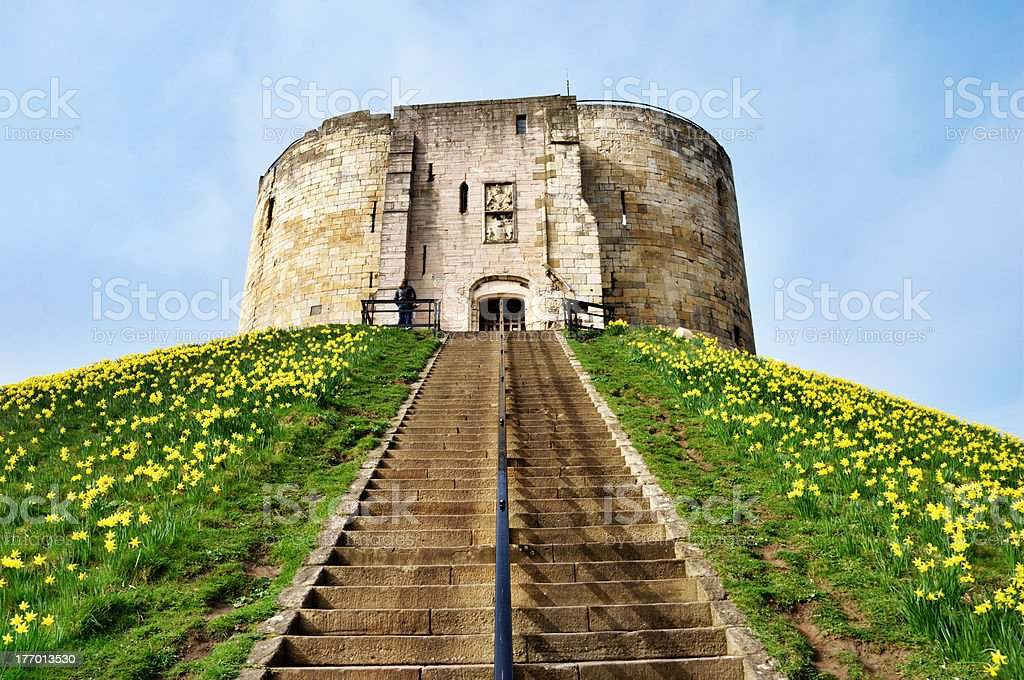 Cliffords Tower Dominating The Motte stock photo
