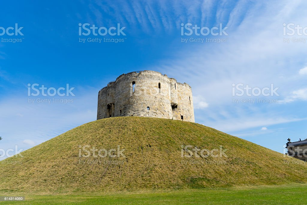 Cliffords Tower in York, England UK stock photo