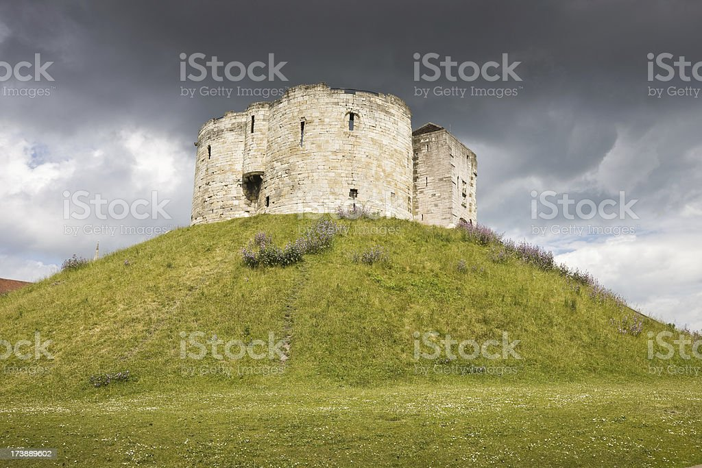 Cliffords Tower in York stock photo