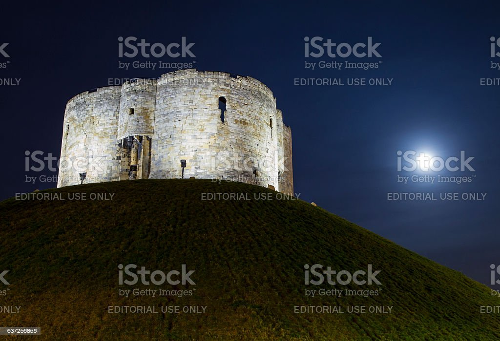 Clifford's Tower in York stock photo