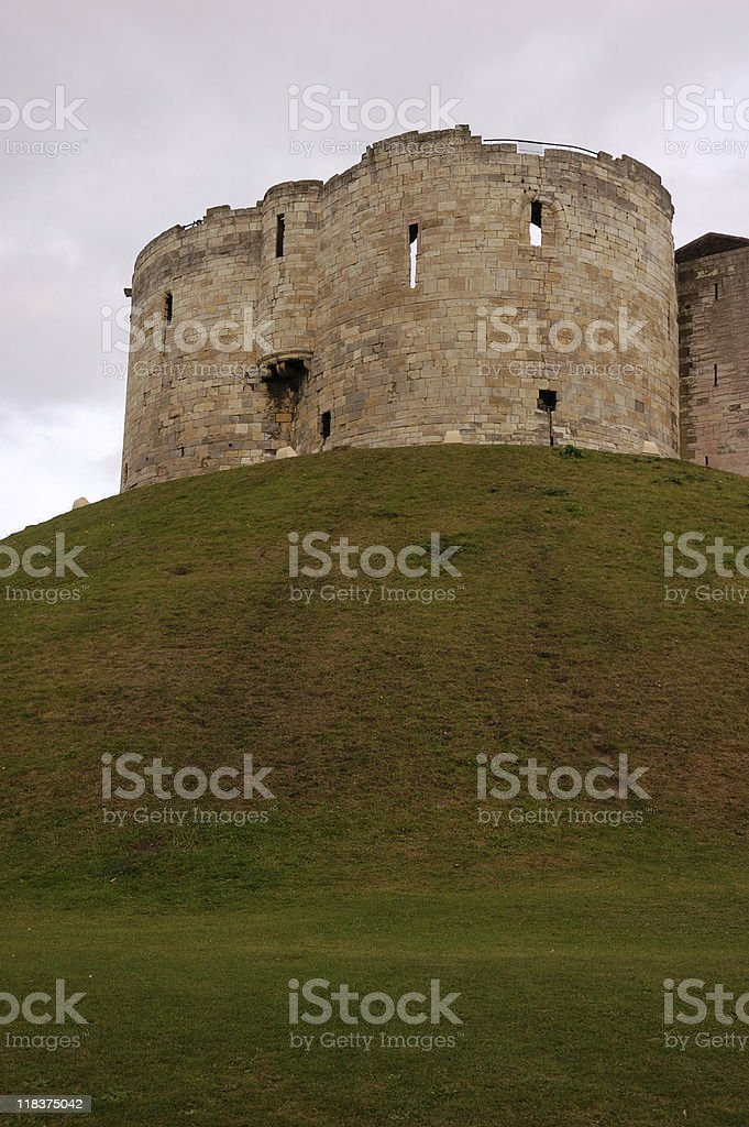 Clifford's Tower, York Castle stock photo