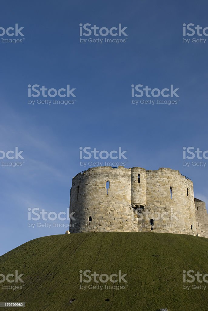 Clifford's Tower, York Castle, UK stock photo