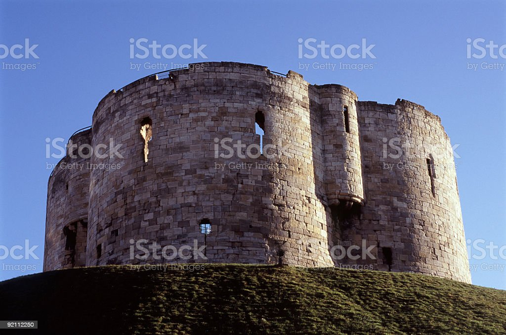 Cliffords tower, York, England stock photo
