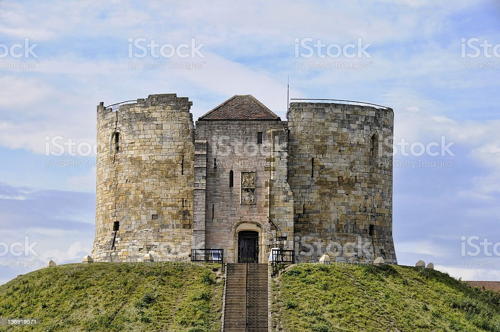 Cliffords Tower York royalty-free stock photo