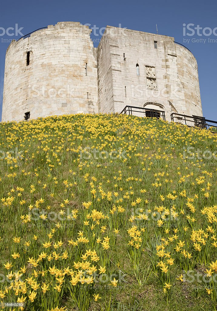 Cliffords Tower, York stock photo