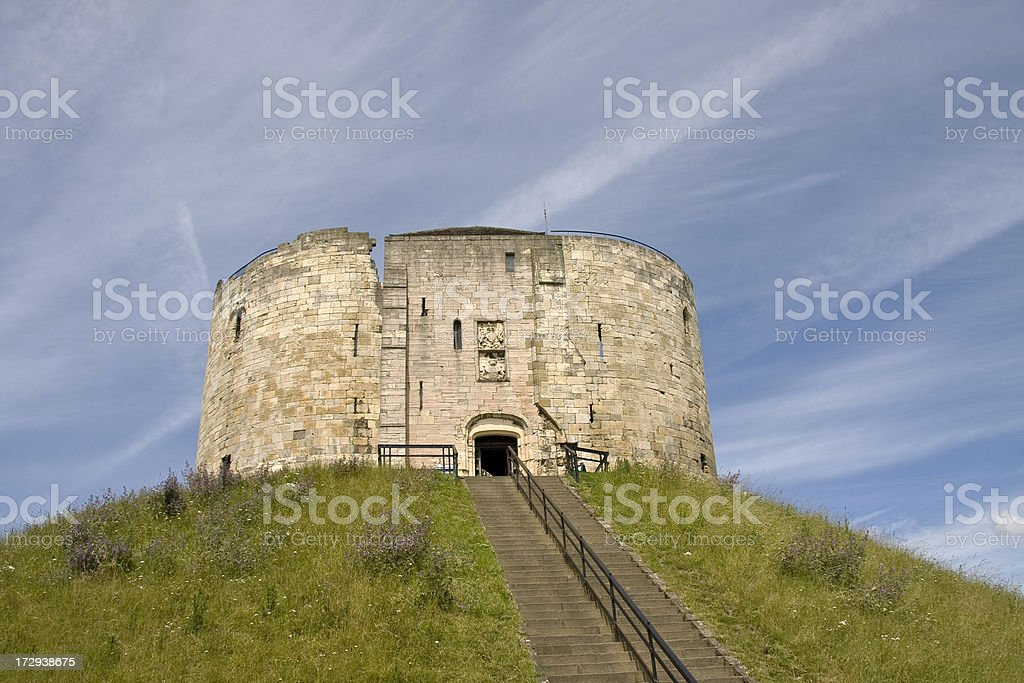 Clifford's Tower, York stock photo