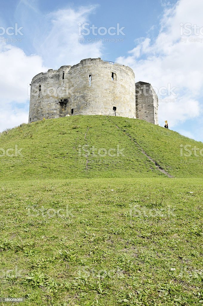 Clifford's Tower, York, UK stock photo