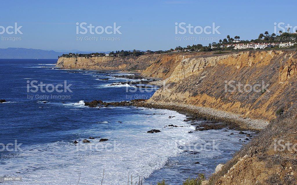 Cliffs along Palos Verdes stock photo