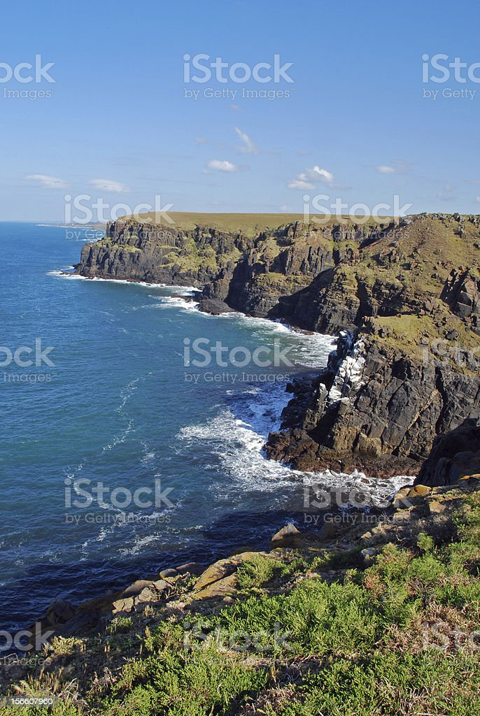 Cliffs Along the Transkei, South Africa stock photo