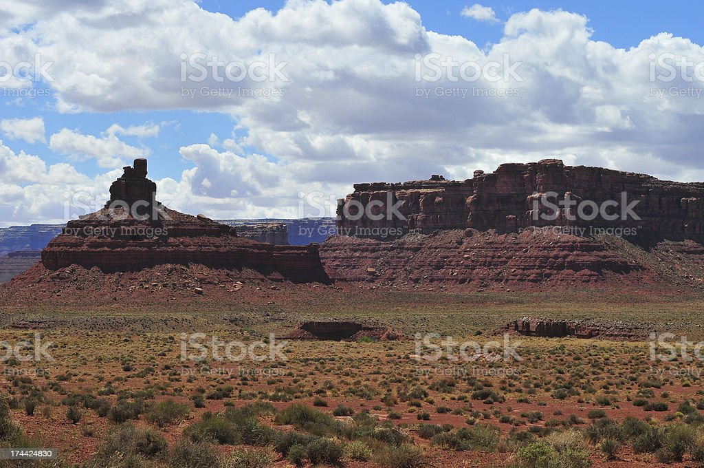 Cliffs along Valley of the Gods royalty-free stock photo