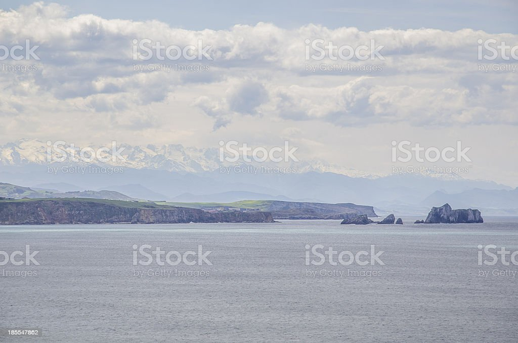 Cliffs and mountains. royalty-free stock photo