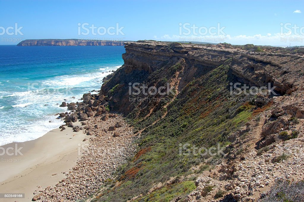 Cliffs and ocean stock photo
