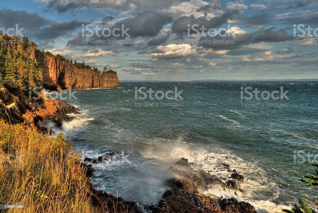 Cliffs at Cape D'Or, Nova Scotia stock photo