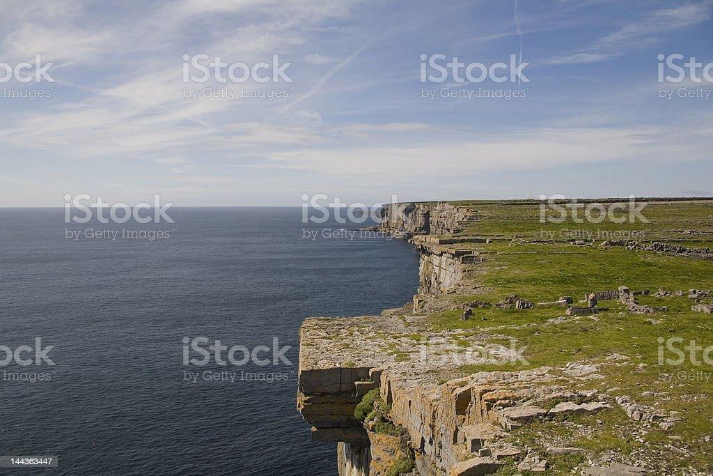 Le Cliffs at Dun Aengus, Inis Mór, Îles d'Aran photo libre de droits