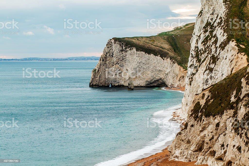 Cliffs at Durdle Door stock photo