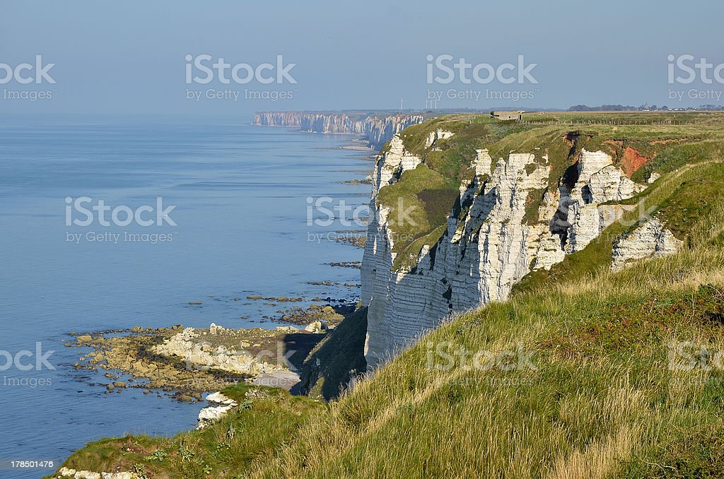 Cliffs at F?camp in France stock photo