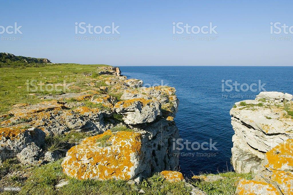 Cliffs at Kamen Bryag stock photo