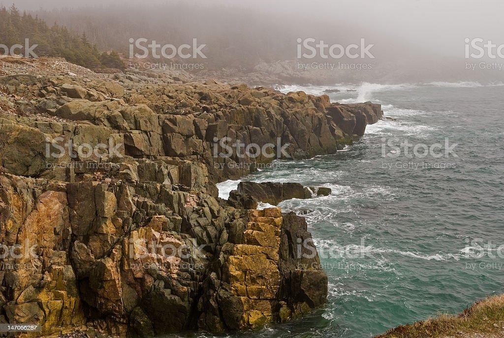 Cliffs at Louisbourg stock photo