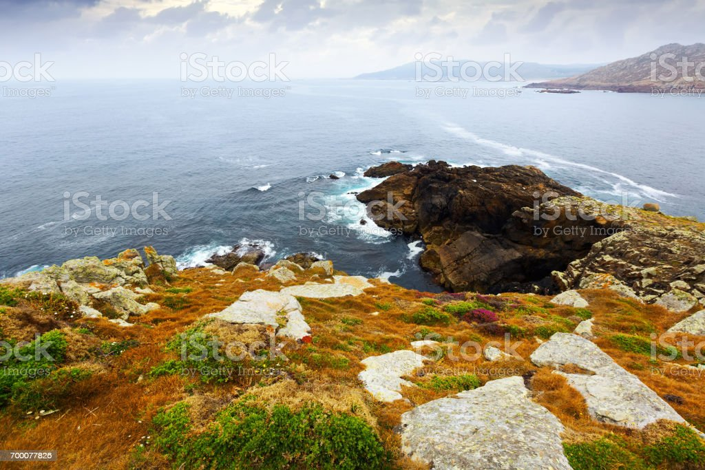 Cliffs at ocean  coast stock photo