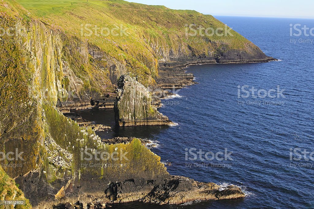 Cliffs at Old Head of Kinsale royalty-free stock photo