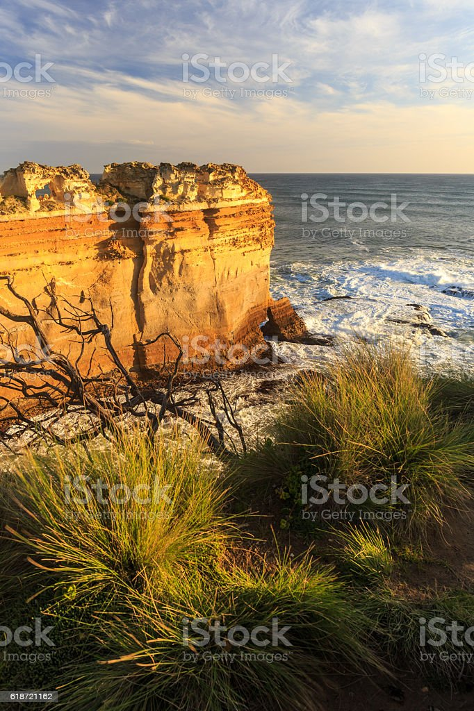 Cliffs at Port Campbell National Park stock photo