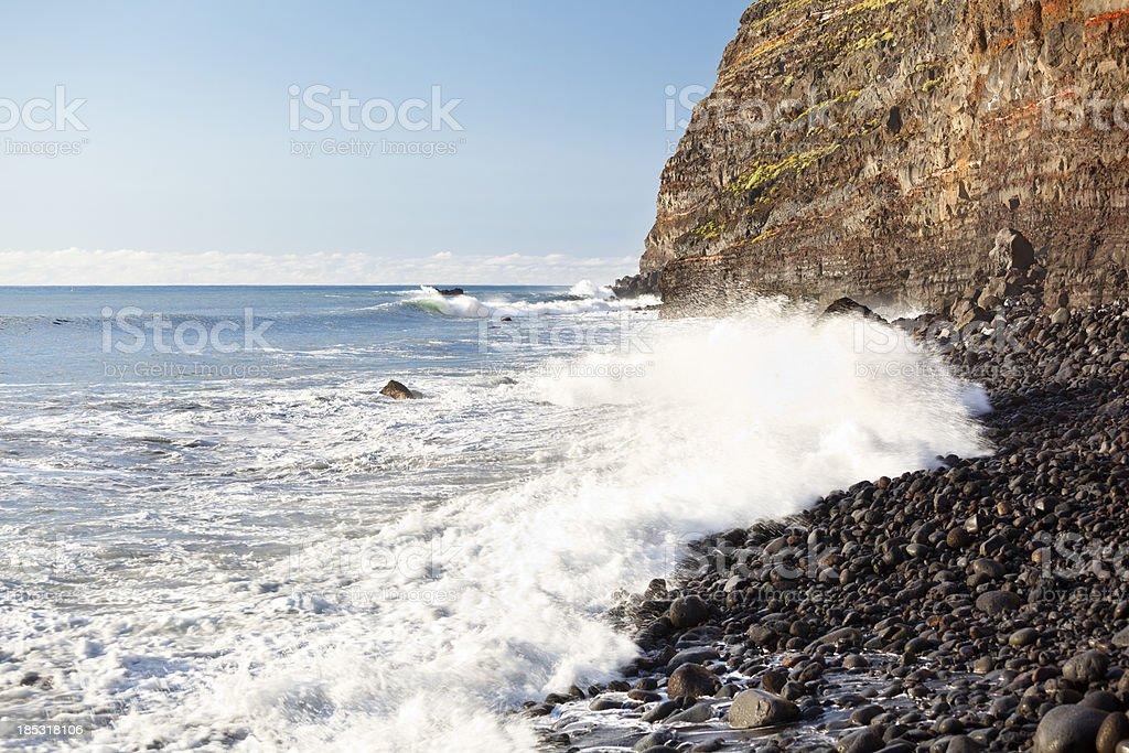 Cliffs At Puerto De Tazacorte, La Palma stock photo