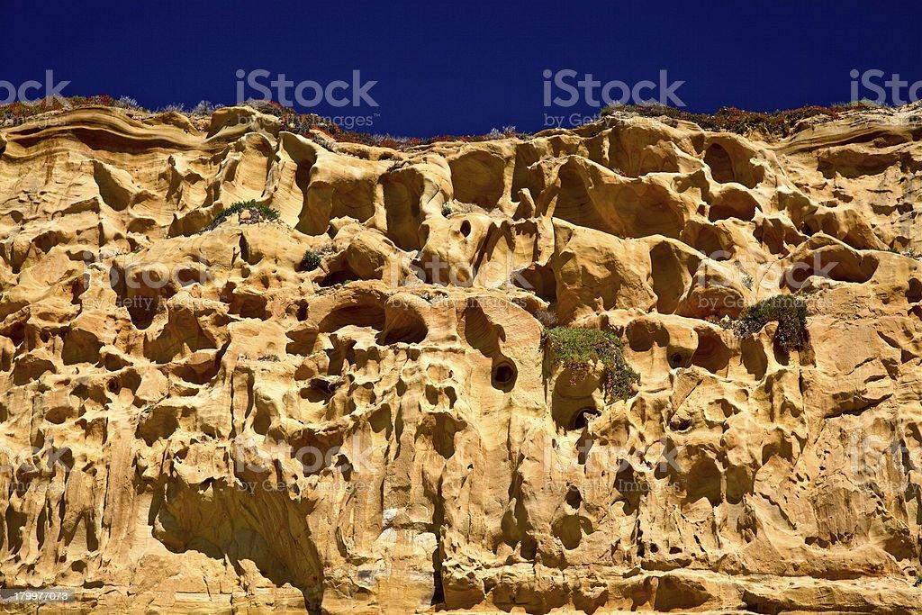 Cliffs at Shoreline stock photo