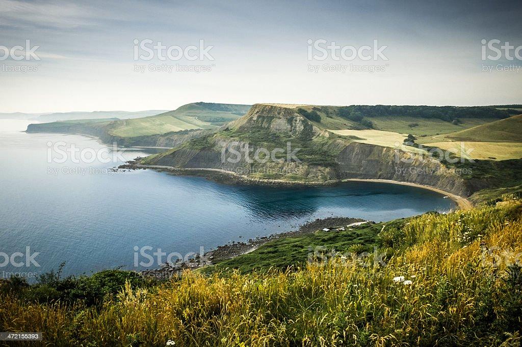 Cliffs at St. Aldhelm's Head, Dorset, England stock photo
