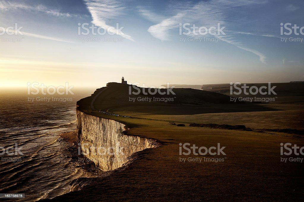 Cliffs at sunset royalty-free stock photo