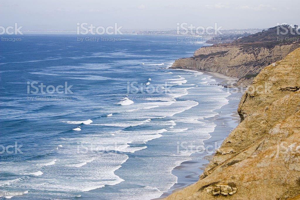Cliffs at Torrey Pines State Beach in San Diego stock photo