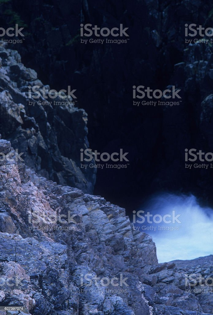 Cliffs Gurnard's Head Cornwall stock photo