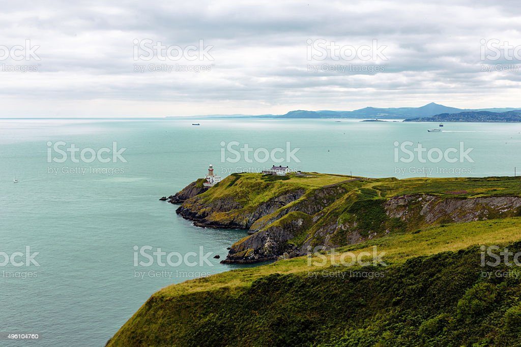 Cliffs in Howth stock photo