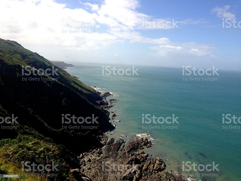 Cliffs in North Devon stock photo