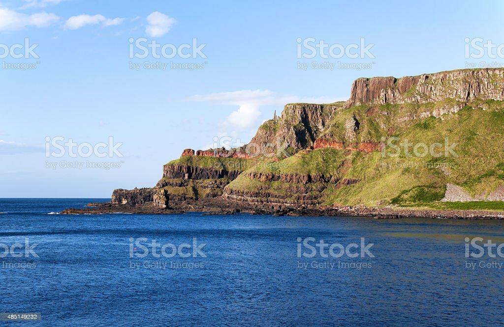 Cliffs in Northern Ireland stock photo