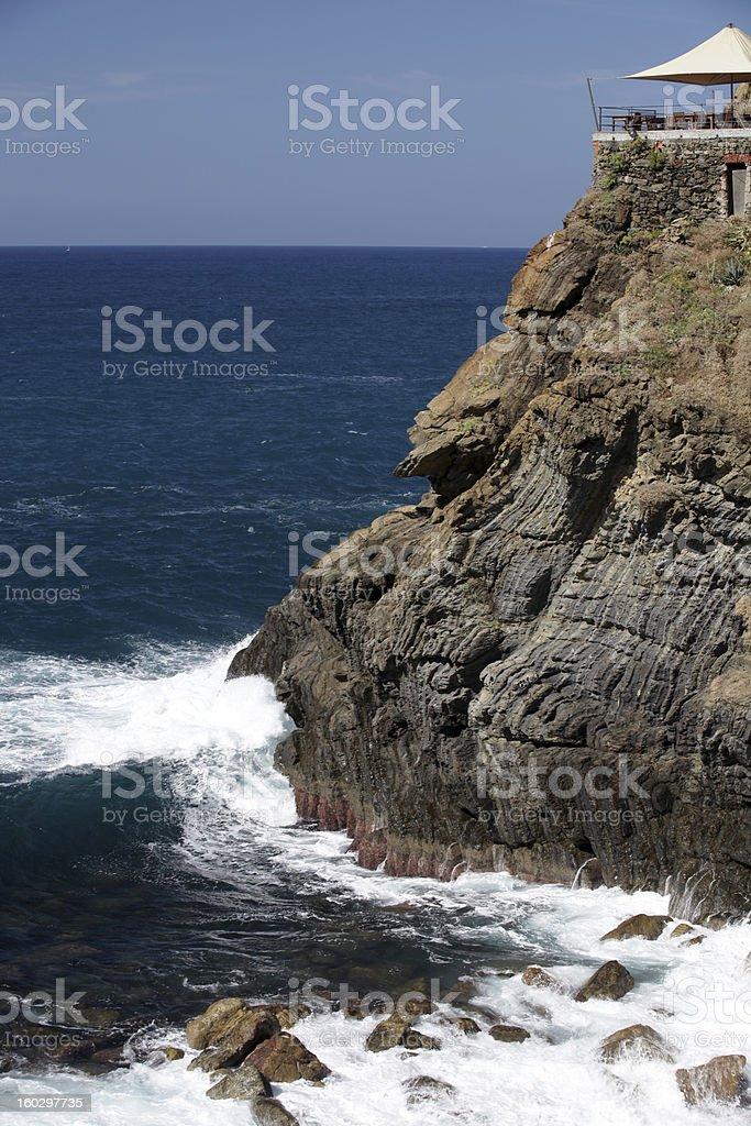 Cliffs in Riomaggiore. royalty-free stock photo