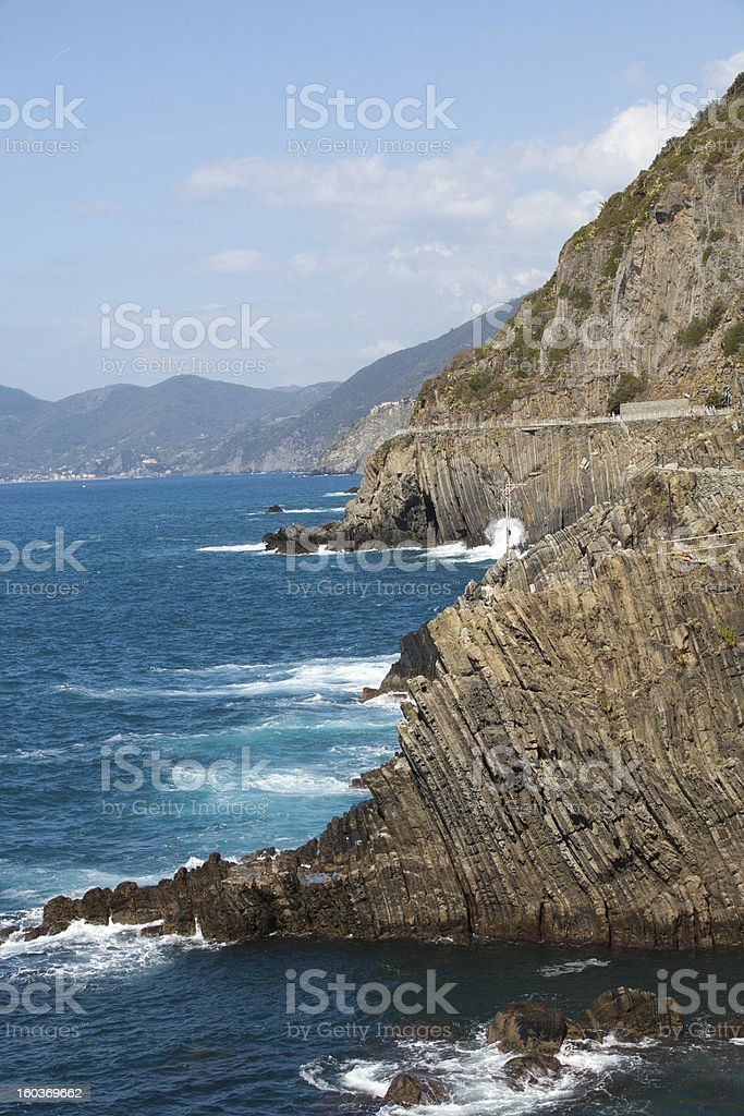 Cliffs in Riomaggiore royalty-free stock photo