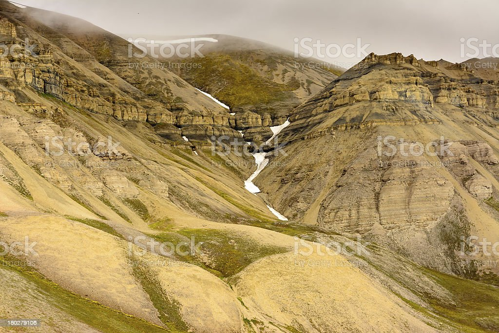 Cliffs in Svalbard, Norway. royalty-free stock photo