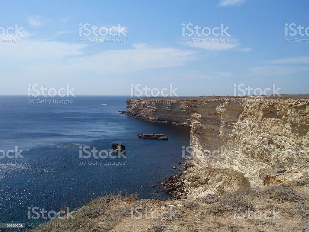 Cliffs in Tarkhankut, Crimea stock photo
