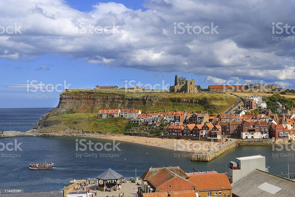 Cliffs in Whitby, England stock photo