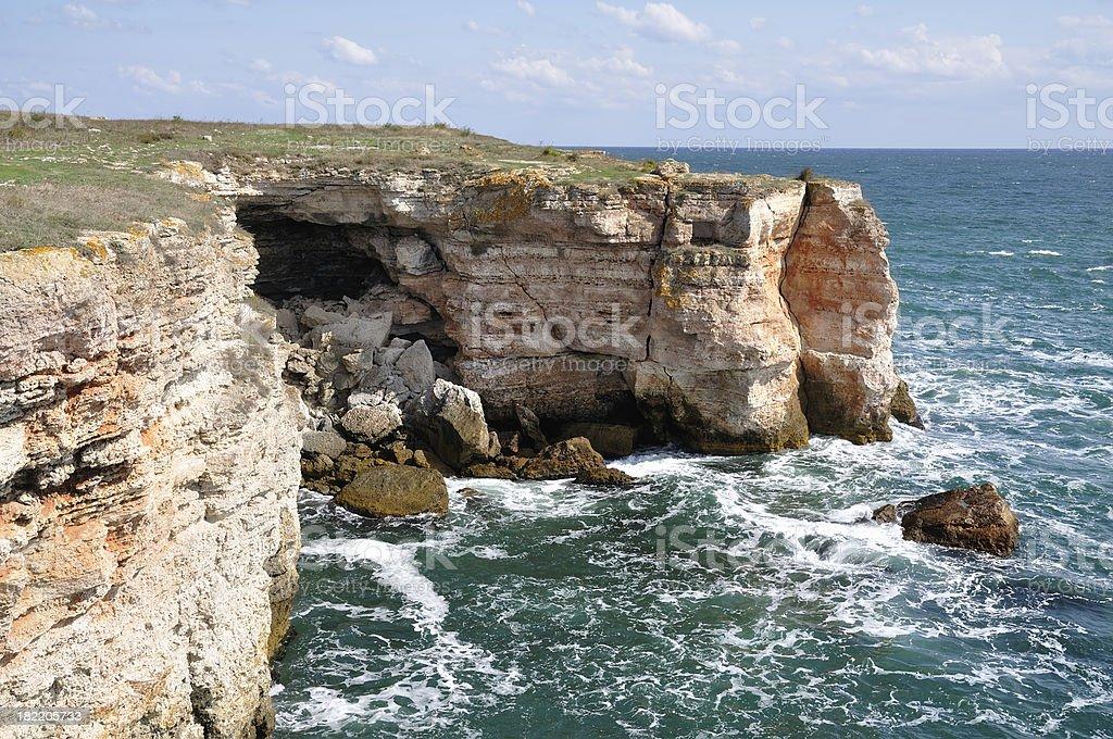 Cliffs near Kamen Bryag at Black sea, Bulgaria stock photo