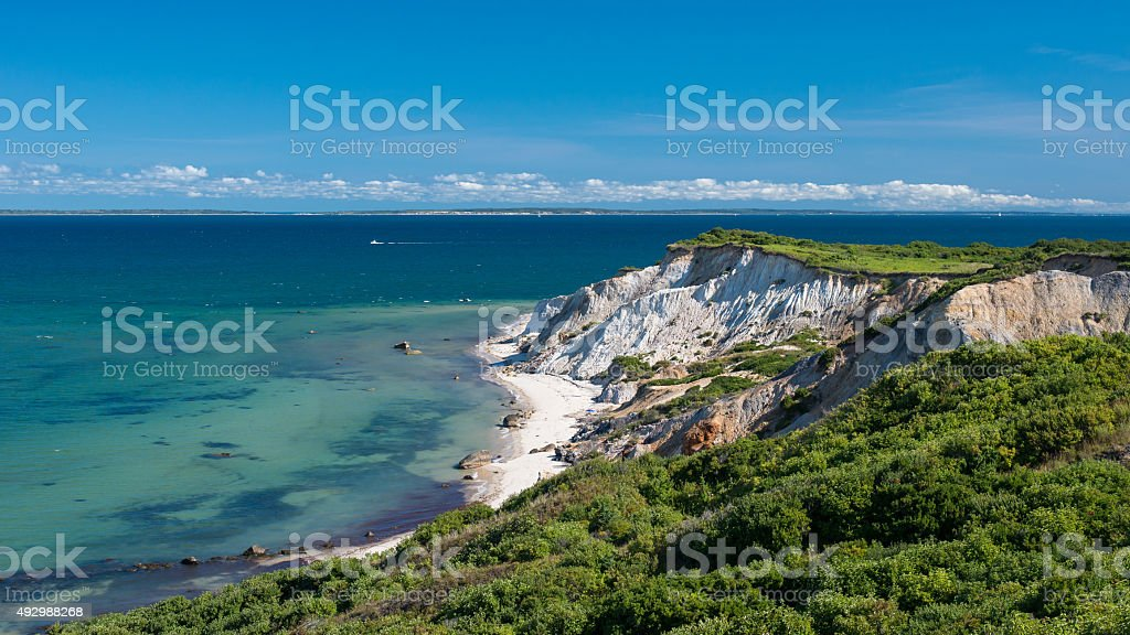Cliffs of Aquinnah stock photo